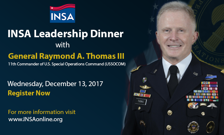Leadership Dinner with General Raymond Thomas, U.S. Army