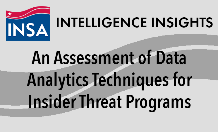 An Assessment of Data Analytics Techniques for Insider Threat Programs