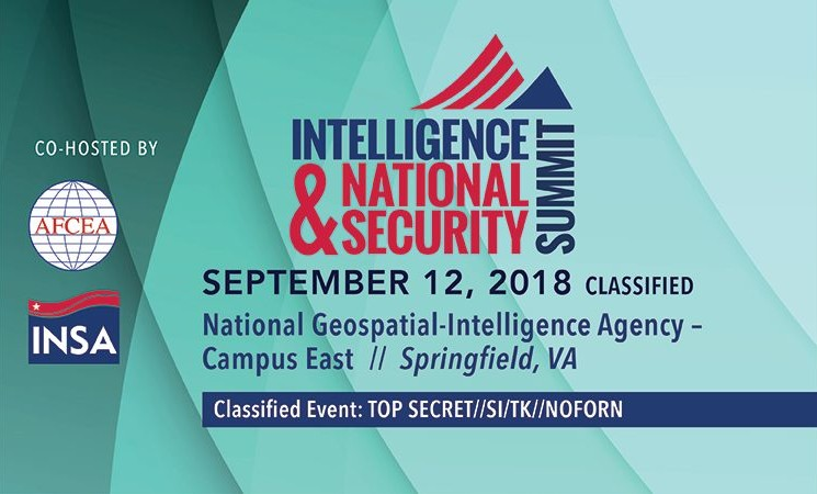 Join INSA for the 2018 Summit at National Harbor, Classified Day at NGA