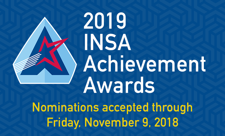 Nominations for 2019 INSA Achievement Awards Now Open