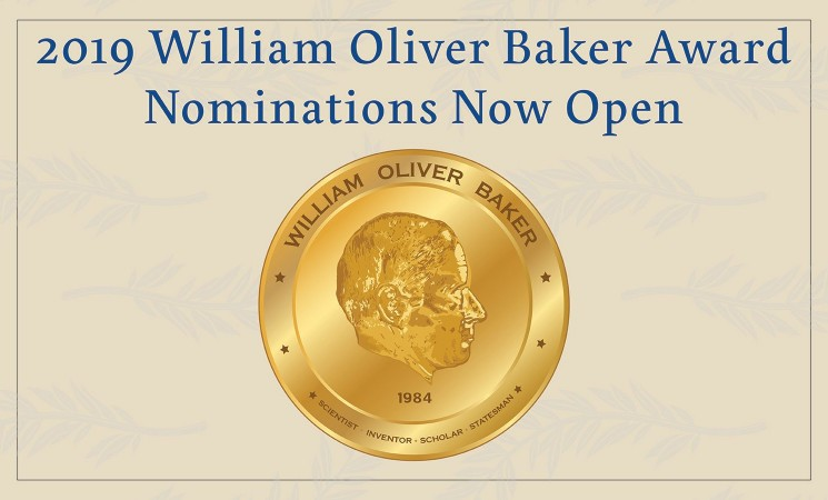 Nominations Now Open for 2019 Baker Award