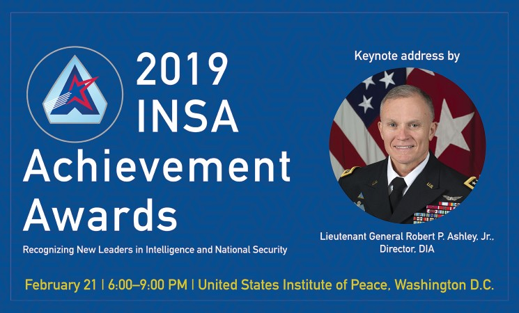 DIA Director LTG Robert P. Ashley, Jr. to Deliver Keynote Remarks at 2019 INSA Achievement Awards