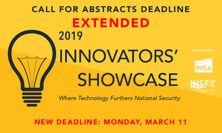 Innovators' Showcase: Abstracts Deadline EXTENDED
