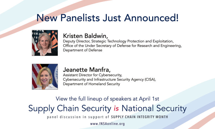 Just Announced! CISA's Jeanette Manfra and DOD's Kristen Baldwin Added to Speaker Lineup