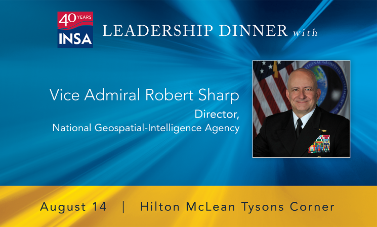 August 14 Leadership Dinner with NGA Director Vice Adm. Sharp
