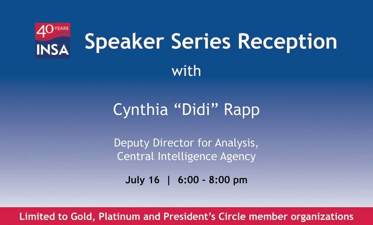 INSA Speaker Series Reception with CIA's Didi Rapp