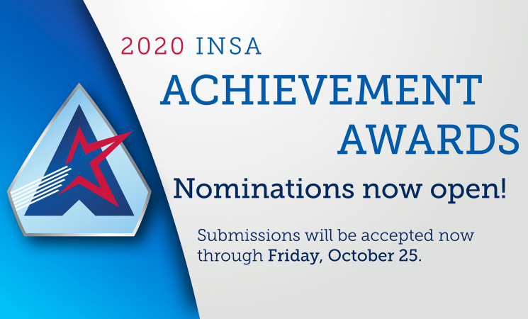 INSA Opens Nominations for 2020 Achievement Awards