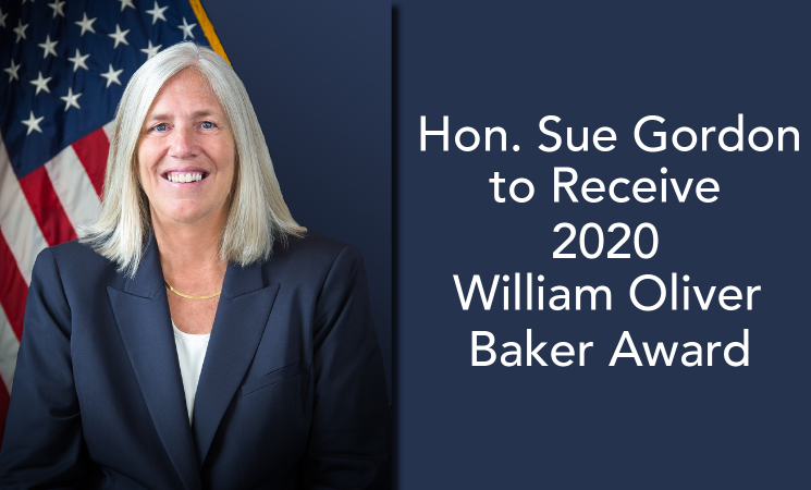 Sue Gordon Named 2020 Baker Award Recipient
