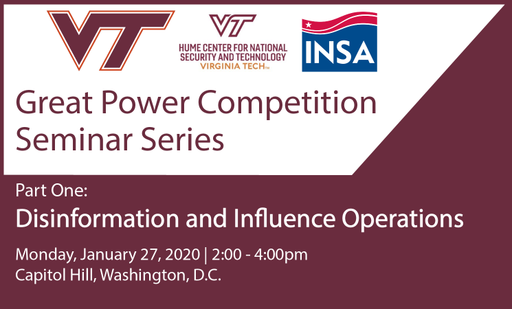 Great Power Competition: Disinformation and Influence Operations Seminar