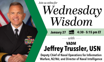 Wednesday Wisdom with VADM Jeffrey Trussler, USN