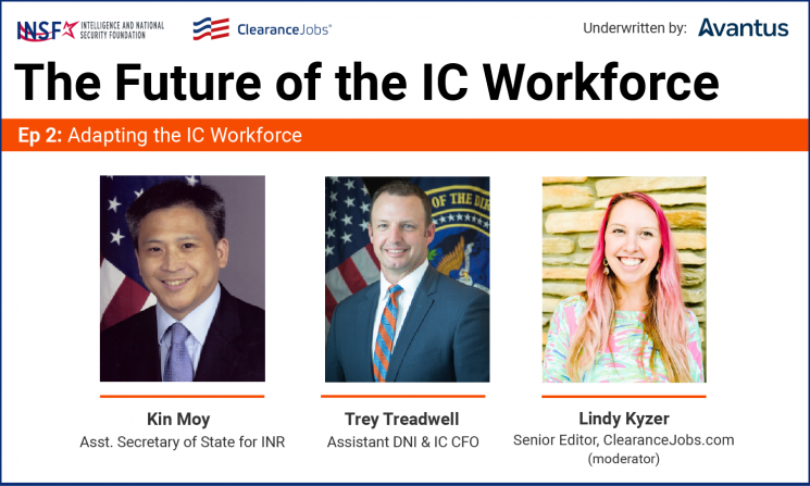 Community Leaders to Discuss Adapting the IC Workforce in April 27 Videocast